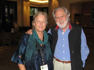 """In this photo, I am with Lord David Puttnam, of UK... one of the great figures of modern cinema... a great honor for me. He is a producer extraodinare and his films have won ten Academy Awards.  Most of all he is a very wise human being and his humanitarian work, as well as the wonderful movies, has resulted in him being made """"Lord"""" Puttnam by Queen Elizabeth the second."""