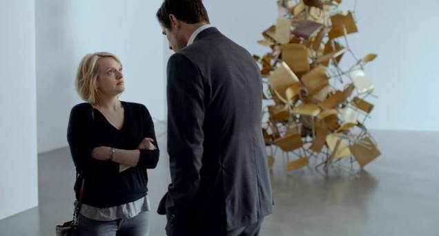 THE SQUARE Elizabeth Moss and Claes Bang